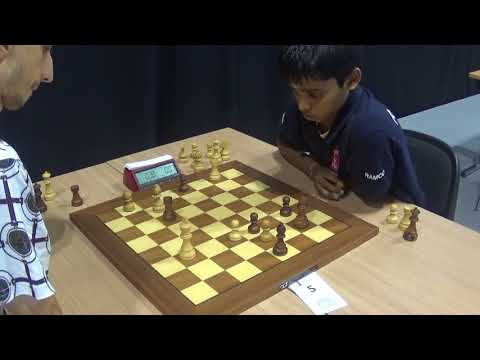 GM Hovhannisyan Robert - GM Rameshbabu Praggnanandhaa, Four Knights Game, Blitz chess