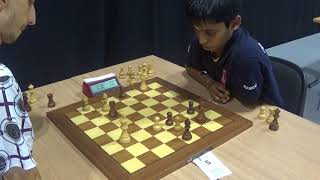 GM Hovhannisyan Robert - GM Rameshbabu Praggnanandhaa, Four Knights Game, Blitz chess