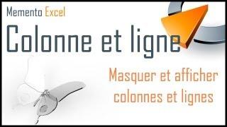 Masquer et afficher colonnes et lignes dans Excel - Formation Excel Marseille