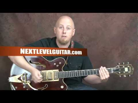 Play Chet Atkins inspired song style country rockabilly blues guitar Country Gentleman style lesson