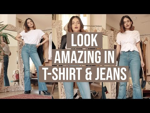 How To Look AMAZING In T-Shirt & Jeans! (Outfits & HACKS) | Komal Pandey. http://bit.ly/2WCYBow
