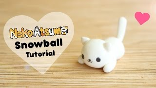 Neko Atsume Simple Snowball│Polymer Clay Tutorial
