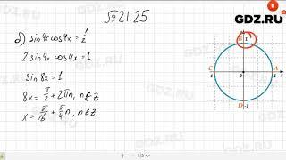 № 21.25- Алгебра 10-11 класс Мордкович