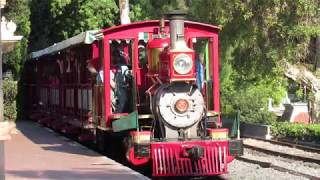 9/5/19 The Disneyland Railroad: Railfanning the park entrance/Main Street in the late afternoon