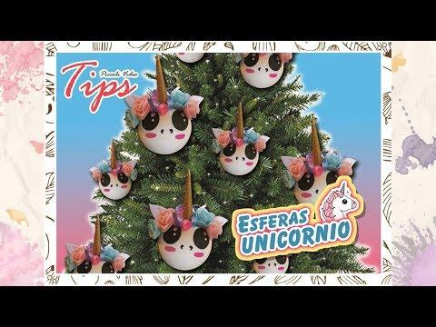 Esfera navide a unicornio diy manualidades de navidad - Esferas de navidad ...