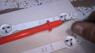 Testador de barras de leds e diodo zener  dentro de um multimetro digital