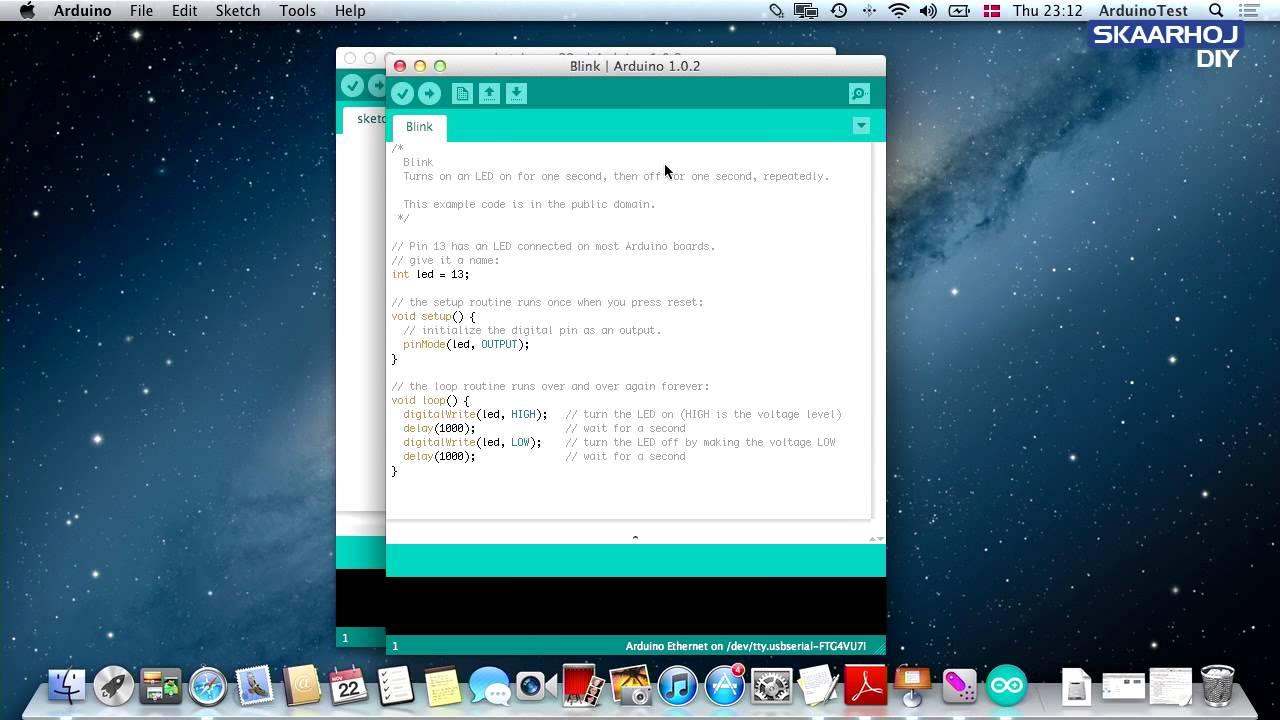Programming an arduino mega mac youtube