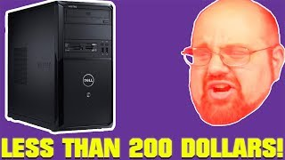 1 Large Man, 3 Super Cheap Gaming PCs