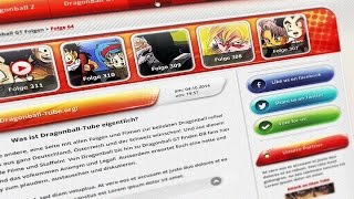 Speed Webdesign - Dragonball-Tube (HTML & CSS)