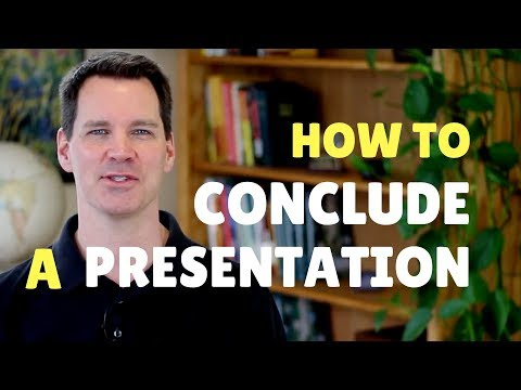 How to Conclude a Presentation
