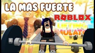 SOY LA MAS FUERTE EN ROBLOX | Roblox Weight Lifting Simulator | Kori