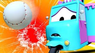 đội xe tuần tra - Cửa kính bị vỡ - Thành phố xe 🚗 những bộ phim hoạt hình về xe tải