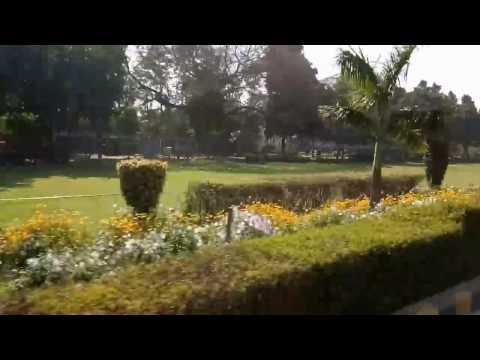 Driving at Shantipath, Chanakyapuri in New Delhi