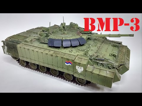 BMP-3 with Upgrade Armor 1/35 (Trumpeter 00365) - YouTube