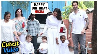Sunny Leone's Kids CUTEST Video With Daniel Weber   Nisha Kaur Weber Birthday Party