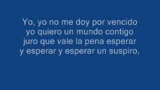 No me doy por vencido karaoke (Instrumental sin voz)