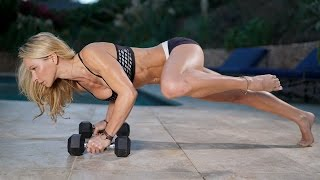 5 Minute Fat Burning Workout #98 - Abs, and Legs, Kettlebell and Sliders