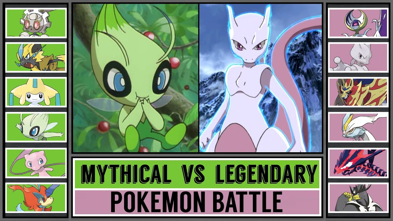 MYTHICAL POKÉMON vs LEGENDARY POKÉMON
