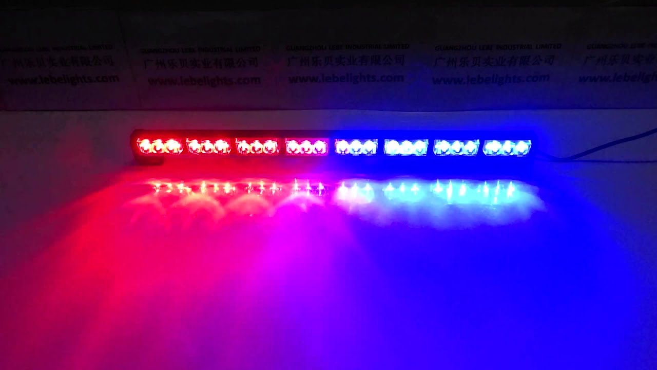 Lovely LB1210 8 Red And Blue, LED Dash Light, LED Police Light   YouTube Idea