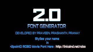 Movie Font Style Generator