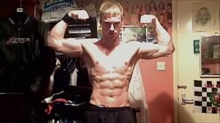 Young Ripped Muscle Guy - Webcam Workout with Pumped Veins