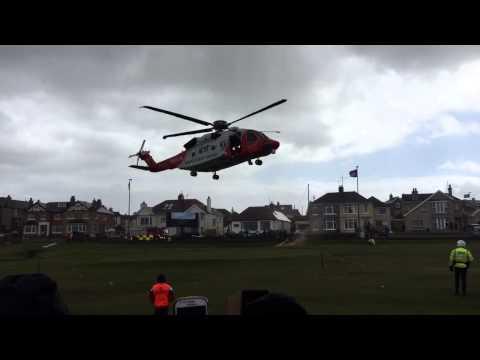 North West 200 Irish Coast Guard Rescue 118 Medivac 16th May 2015