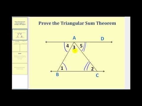 Proving the Triangle Sum Theorem