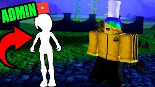 PLAYING THE NEW HALLOWEEN EVENT WITH A ROBLOX ADMIN!