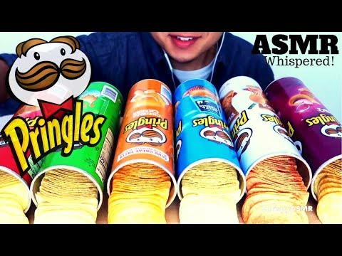 ASMR * PRINGLES CHIPS * | 6 Flavors EXTREMELY CRUNCHY MIX | WHISPERED SATISFYING EATING SOUNDS