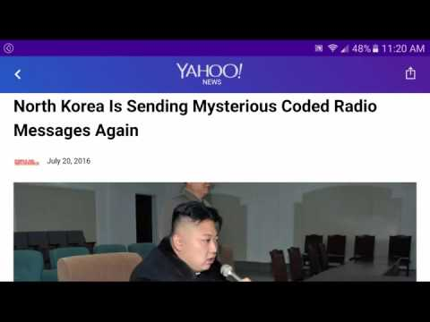 North Korea Radio Broadcasts Random Numbers- FOR 12 MINUTES STRAIGHT