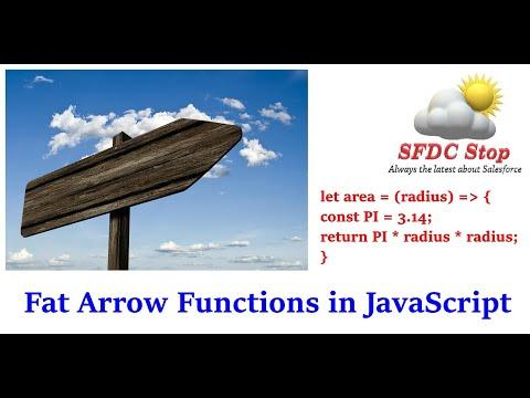 ES6 Fat Arrow Functions in JavaScript | JavaScript Tutorial Series by SFDC Stop