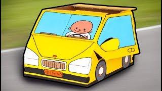 Cardboard Car - Crafts Ideas For Kids | DIY on BoxYourself