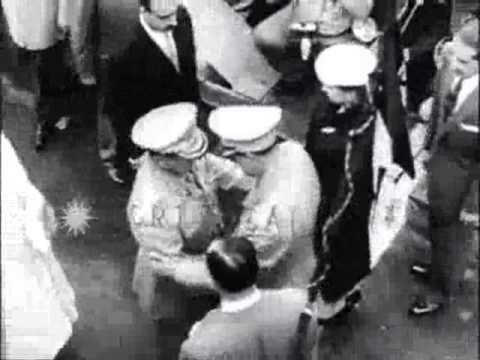 Encuentro entre Marcos Perez Jimenez y Gustavo Rojas Pinilla