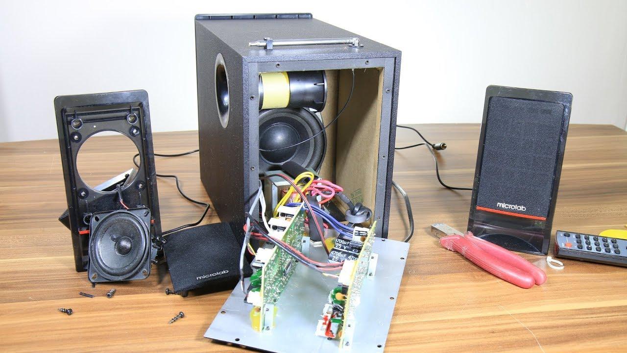 look inside microlab m-700u pc multimedia 2 1 speakers