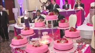 Big Wedding Cake An Indian Wedding Reception at La Suhaag Banquet Hall Brampton
