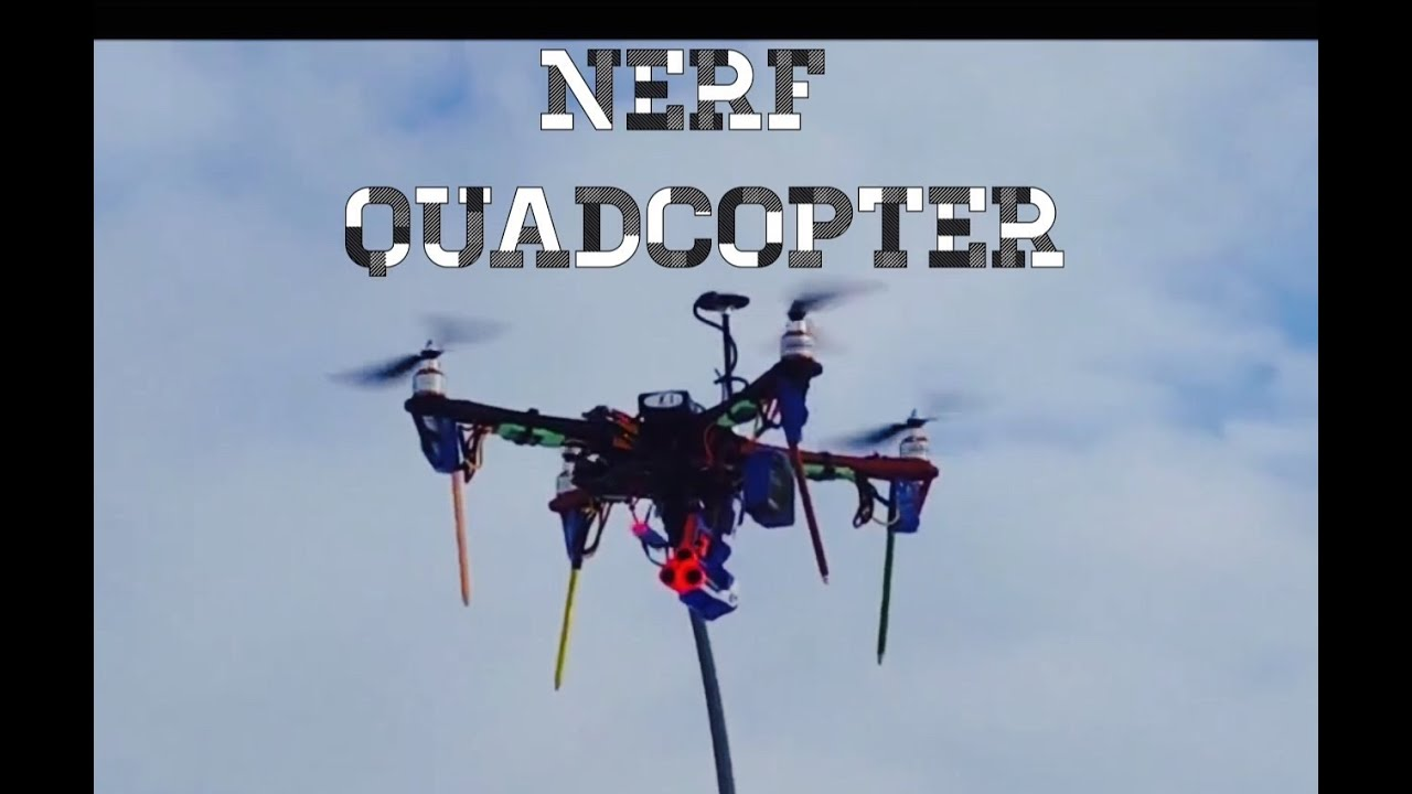 Nerf Gun On Quadcopter