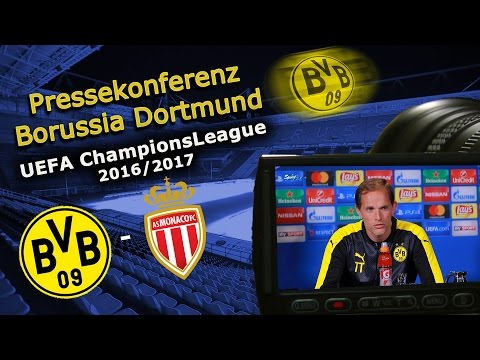 Borussia Dortmund - AS Monaco FC: Pk mit Raphael Guerreiro und Thomas Tuchel