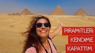 Piramitleri Kendime Kapattım - Giza ve Saqara Piramitleri   MISIR VLOG #1