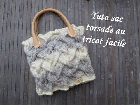 Tuto Sac Torsade Au Tricot Twist Bag Knitting Bolsa Punto Torsadas Dos Agujas
