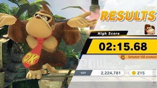 Super Smash Bros. Ultimate - Century Smash, Donkey Kong (02:15.68)