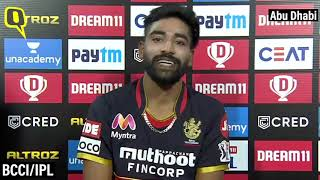 Mohammed Siraj On 'Magical' Match-Winning Performance vs KKR: IPL 2020 | The Quint