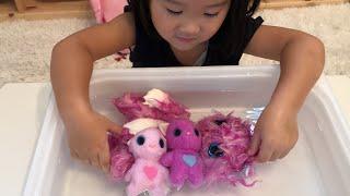 フーアーユー 毛玉のお人形から赤ちゃんが生まれた!WHO are YOU ? Wash Puppy Plush Doll