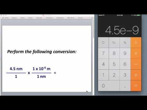 Scientific Notation Calculations - iPhone
