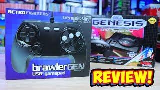 Retro Fighters BrawlerGen USB 6 Button Sega Genesis Mini Controller Review!