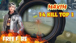 [Garena Free Fire] MAXIM 14 KILL TOP 1 Đảo Thiên Đường | Sỹ Kẹo