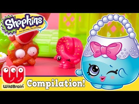 Shopkins Toys Happy Places Shopping At The Mall | SHOPKINS GROSSERIES COMPILATION 🌈 RaInBoW PoP 7