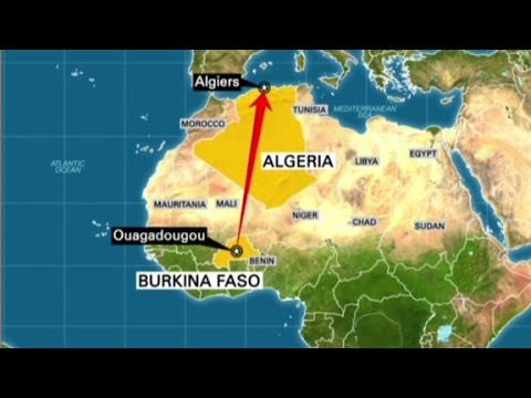Plane carrying 100 plus people crashes in Mali