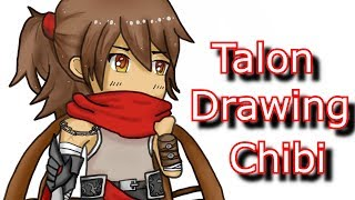 TALON CHIBI DRAWING WITH TABLET - League of Legends (LoL)