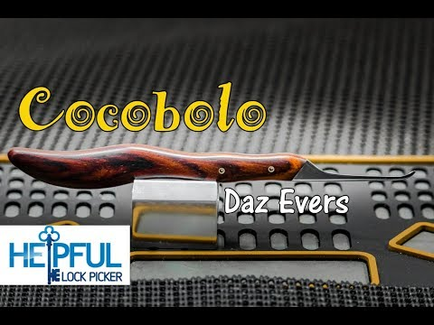 [184] First Look At Daz Evers Custom Hand-Made Cocobolo Lock Pick