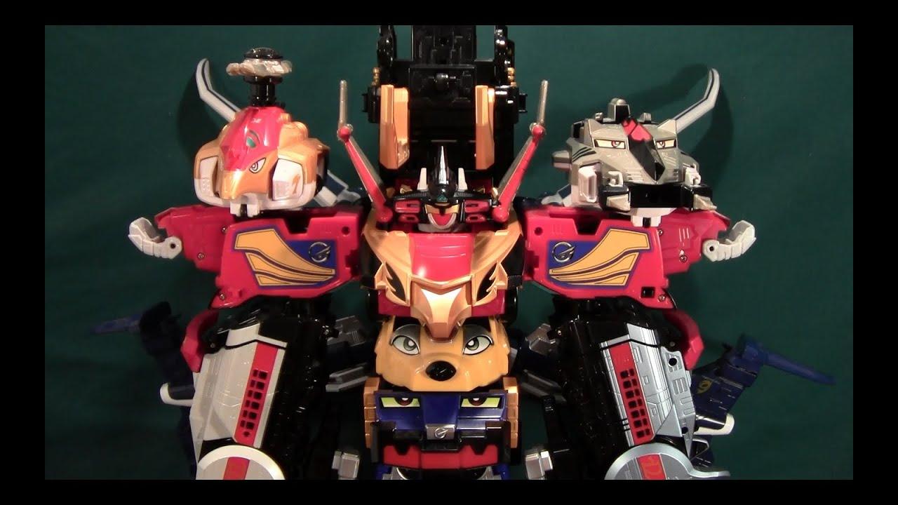 Engine Sentai Go-Onger Kyoretsu-O and Engine-O G12 review (Power Rangers  RPM Paleomax Megazord)